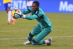 Sep 9, 2014; East Rutherford, NJ, USA; Ecuador goalkeeper Alexander Dominguez (22) makes a save during the first half at MetLife Stadium.