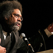 01/21/2015- Medford/Somerville, Mass. - Dr. Cornel West speaks to the Tufts community to promote his latest book, Black Prophetic Fire, at Cohen Auditorium on Jan. 21, 2015. (Kelvin Ma/Tufts University)