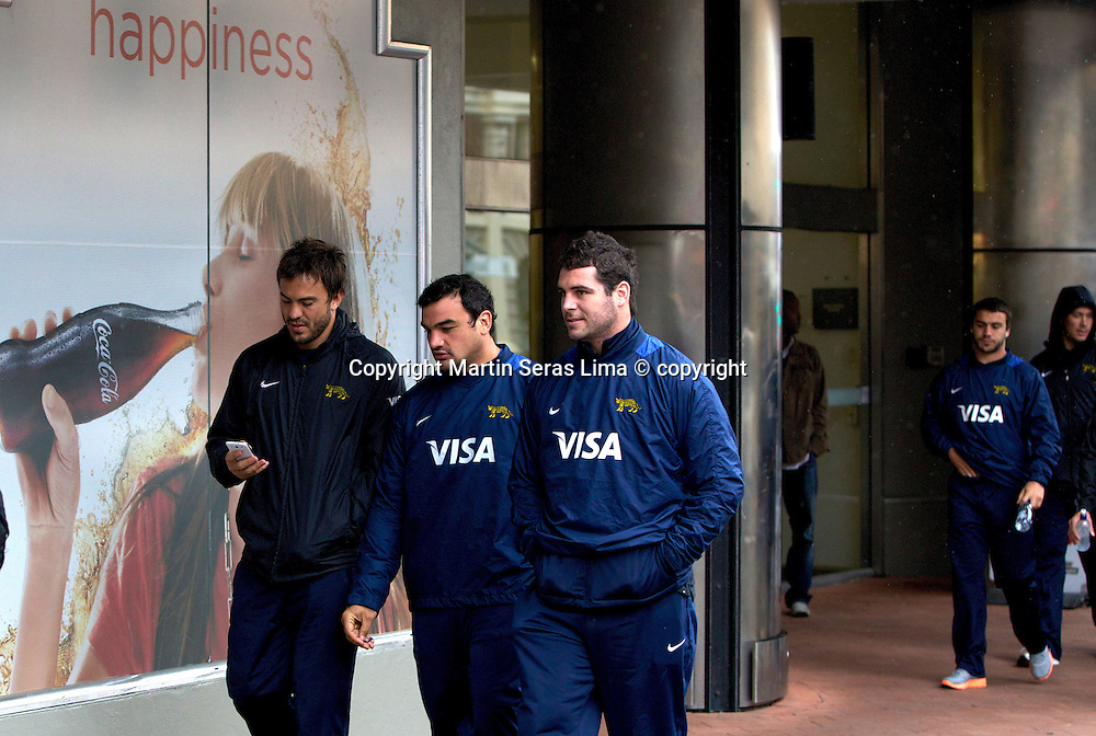 Los Pumas walking in Wellington - Argentina in Wellington, New Zealand - The Rugby Champhionship 2012. Photo Martin Seras Lima