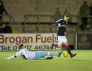 Dundee&rsquo;s Nick Ross and Forfar's Martyn Fotheringham - Forfar Athletic v Dundee, Martyn Fotheringham testimonial at Station Park, Forfar.Photo: David Young<br /> <br />  - &copy; David Young - www.davidyoungphoto.co.uk - email: davidyoungphoto@gmail.com