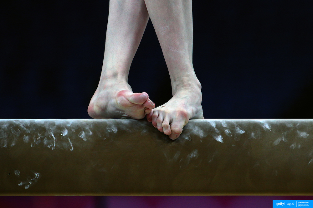 Women girl gymnastics feet