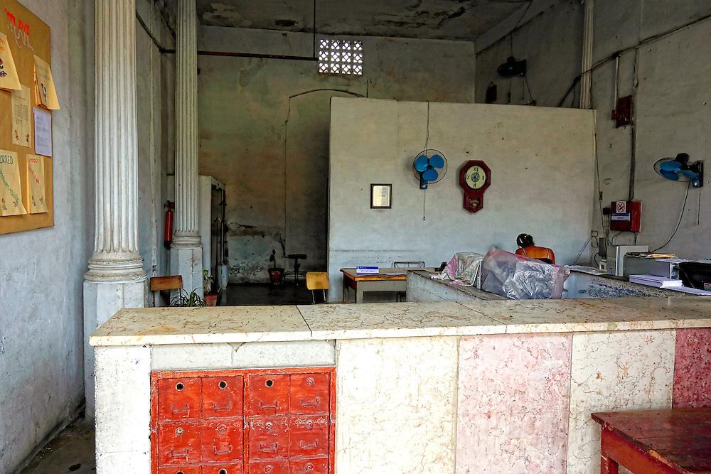 Post office in Manicaragua, Villa Clara, Cuba.   Robin Thom ...