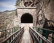 Mirandela<br /> The railway tunnel of the extinct Tua rail line is now used as the yard for the new EDP (the biggest national electricity company) dam.<br /> <br /> Mirandela.<br /> T&uacute;nel da extinta linha do Tua usado agora  para estaleiro da constru&ccedil;&atilde;o da nova barragem da EDP.
