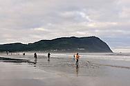 Razor Clamming, Seaside, Oregon, USA