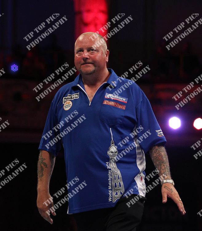 PDC WORLD MATCHPLAY 2014,2nd ROUND ANNDY HAMILTON ,PIC CHRIS SARGEANT,<br /> TIPTOPPICS