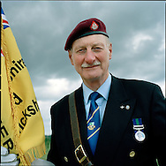 Suez Veterans meet at the 50th Anniversary of the withdrawal from the Suez Canal in 1956. The event was held at the National Memorial Arboretum near Lichfield, UK. .Photo shows ex-Royal Military Policeman Captain John Buchanan..Photo©Steve Forrest /Workers Photos.