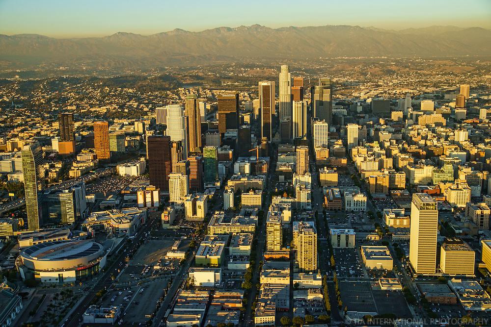 Los Angeles Skyline & San Gabriel Mountains