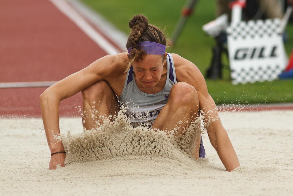 Olympic Trials Eugene 2012: Heptathlon, long jump, Krais