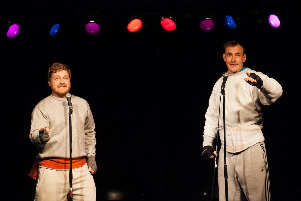 Joel Walkowski & Matt Wayne as Hans & Frans - Schtick or Treat 2013 - Littlefield, Brooklyn - October 27, 2013