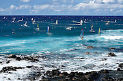 Windsurfers at Ho'okipa - Maui, Hawaii