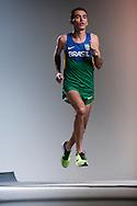 Sao Paulo, Brazil, June 11 of 2012:  Brazilian marathon runner Marilson dos Santos during a photo shooting for Nike, at Burti Studio, in Sao Paulo.  (photo: Caio Guatelli)