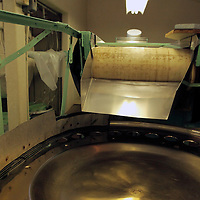 USA, California, Ontario. Olive can filling sorter. Graber Olive House.