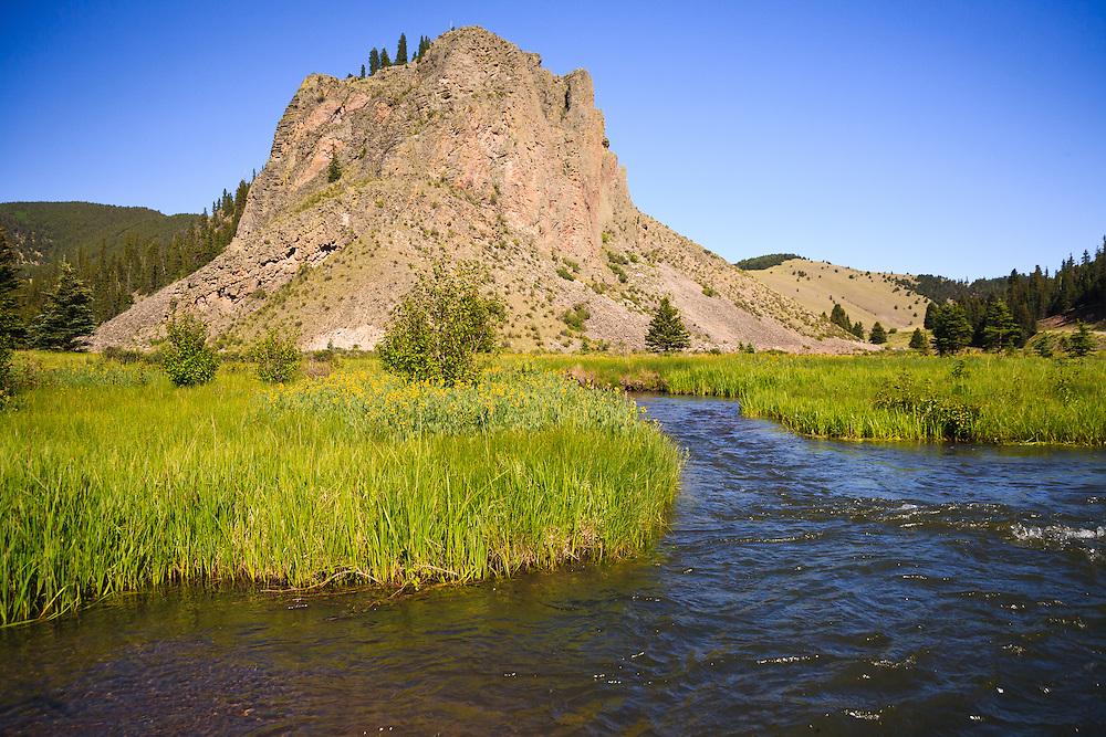 Comanche Point and the confluence of the Rio Coastilla and Comanche Creek.