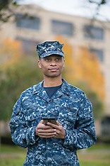 African American Male Navy Student
