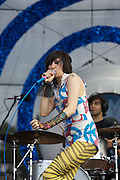 MANCHESTER, TN - JUNE 12:  Lead singer Karen O of the Yeah Yeah Yeahs perform at the 2009 Bonnaroo Music and Arts Festival on June 12, 2009 in Manchester, Tennessee. Photo by Bryan Rinnert/3Sight Photography