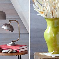 Lamp and Vase interior decorating accessories