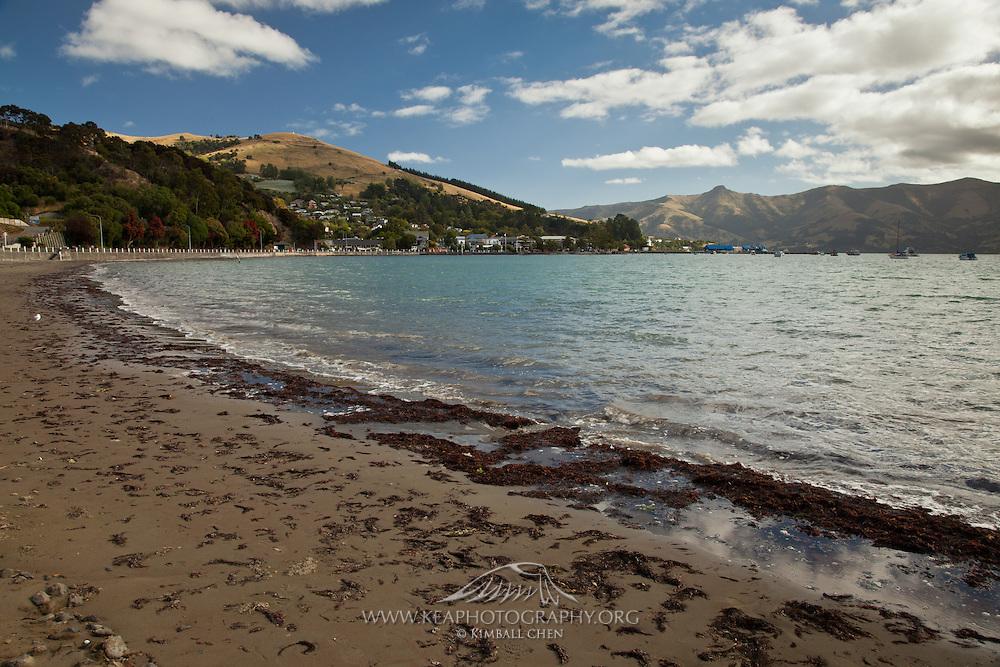 Beach at Akaroa, New Zealand