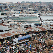 The Central Market in Kumasi, Ghana, seen on 8 September 2016, is a sprawling expanse of tin-roofed sheds, shacks and shops and is reputed to be the largest market in West Africa. Everything from cosmetics to baking tins to musical instruments can readily be bought. In one section of the market, bushmeat sellers are dotted amongst vendors of other foodstuffs.<br /> <br /> Ghana's bushmeat trade is estimated to be worth &pound;105 million a year. Given a lack of empirical data, it is hard to know how many wild animals are being killed to satisfy this demand, but between hunting and habitat loss it is clear that wildlife populations are declining precipitously. One estimate, now dated, posits that Ghana&rsquo;s wildlife biomass has declined by three-quarters since the 1970s.