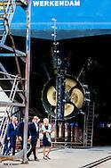 King Willem-Alexander and Queen Maxima of The Netherlands visit the north west region of Friesland, The Netherlands, 13 June 2016. The King and the Queen visit Het Bildt, Menamendiel, Franekeradeel and Harlingen. 13-6- 2016 King Willem-Alexander and Queen Maxima spend Monday, June 13th, 2016 a regional visit to Northwest Frysl&acirc;n (northwest corner) in the province of Friesland. During the visit the ambitions of the Regional Agenda are central, where provinces, municipalities and water boards to work with residents and businesses to a strong region. Special attention is paid to the quality of life in this region with a declining population. visit the King and Queen in this context various locations in the municipalities of Het Bildt, Menameradiel, Franekeradeel and Harlingen.COPYRIGHT ROBIN UTRECHT<br /> 13-6- 2016 WIER - Koning Willem-Alexander en koningin Maxima tijdens een bezoek aan een kas waar mensen met een afstand tot de arbeidsmarkt werken tijdens een streekbezoek aan Noardwest - Koning Willem-Alexander en koningin Maxima brengen een streekbezoek aan Noardwest Fryslan.  tijdens een streekbezoek aan Noardwest Koning Willem-Alexander en Koningin Maxima brengen maandag 13 juni 2016 een streekbezoek aan Noardwest Frysl&acirc;n (Noordwesthoek) in de provincie Frysl&acirc;n. Tijdens het bezoek staan de ambities van de Streekagenda centraal, waarin provincie, gemeenten en waterschap samenwerken met inwoners en bedrijven aan een sterke regio. Speciale aandacht is er voor de leefbaarheid in deze regio met een teruglopend bevolkingsaantal. De Koning en Koningin bezoeken in dit kader diverse plaatsen in de gemeenten Het Bildt, Menameradiel, Franekeradeel en Harlingen. COPYRIGHT ROBIN UTRECHT