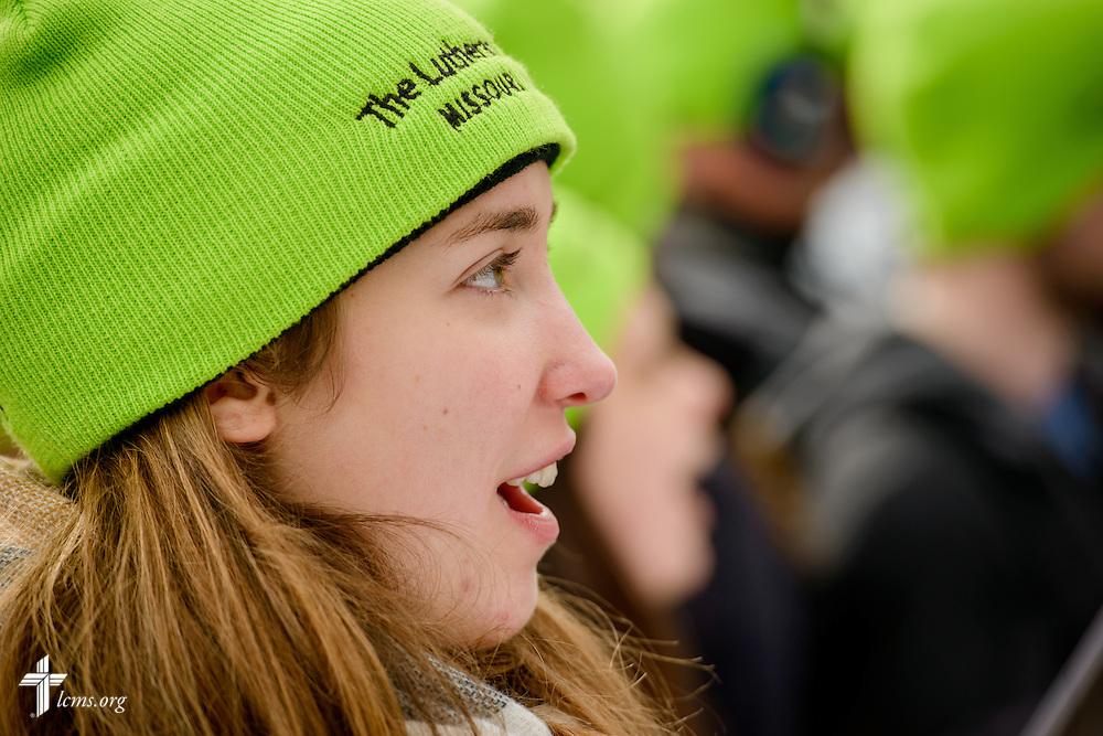 A participant cheers during the March for Life 2017 on Friday, Jan. 27, 2017, in Washington, D.C. LCMS Communications/Erik M. Lunsford