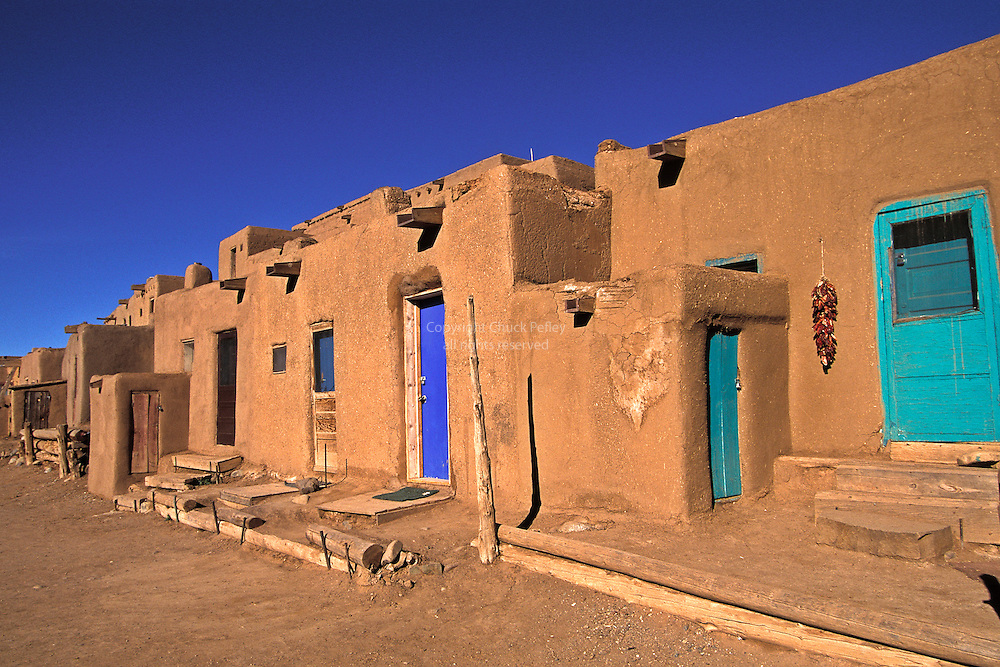 Taos pueblo new mexico usa chuck pefley designs for Pueblo home builders