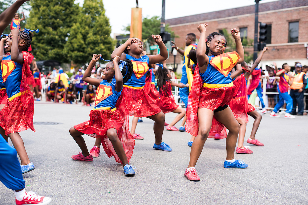 Dance Force Elite performs in the Bud Billiken Parade on August 8, 2015.