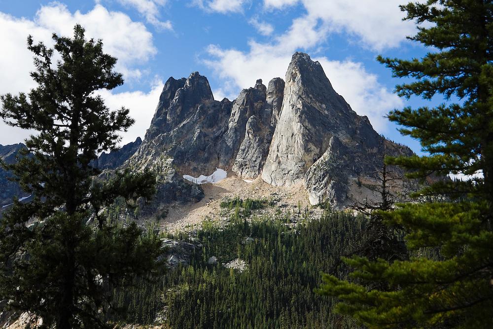 Liberty Bell mountain and Washington Pass area, North Cascades of Washington, USA.