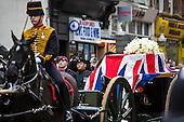 Margaret Thatcher's funeral cortege