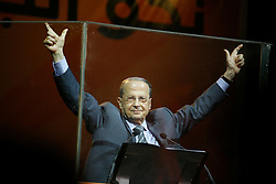 Former Lebanese General Michel Aoun's Free Patriotic Movement held a rally in Beirut just eight days before the June 2009 parliamentary elections.