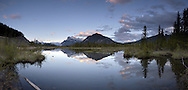 Vermillion Lakes Panoramic Landscape, Banff National Park, Alberta, Canada