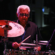 Legendary Percussionist Pete Escovedo performs with the Latin Jazz All-Stars in front of a large crowd at the 26th annual duPont Clifford Brown Jazz Festival Thursday, June 19, 2014, at Rodney Square Park in Wilmington, DEL.<br /> <br /> &ldquo;The Clifford Brown Jazz Festival is a staple of Wilmington&rsquo;s performing arts culture,&rdquo; said Mayor Dennis P. Williams. &ldquo;The City is excited to celebrate the 26th anniversary and I hope the community gets involved and enjoys all of the many activities the festival has to offer.&rdquo;<br /> <br /> The Clifford Brown Jazz festival is the largest FREE out door music event on the east coast of the United States.