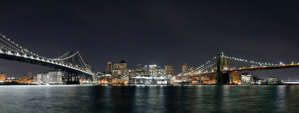 Brooklyn at night from Manhattan.
