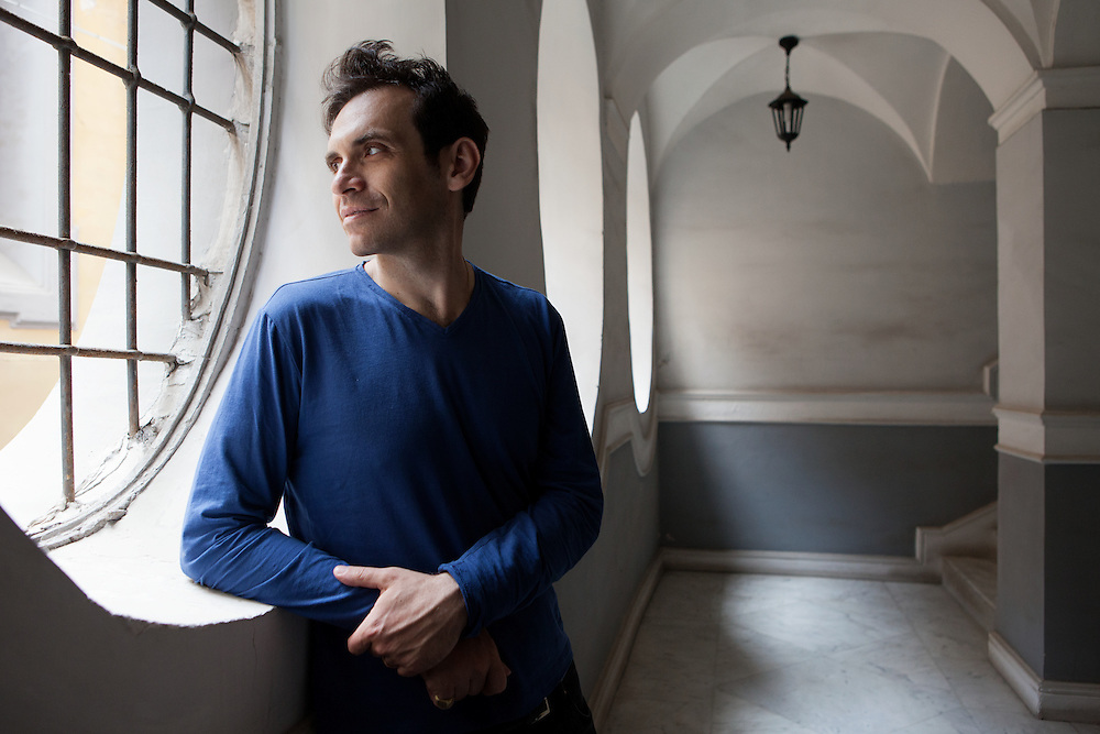 Napoli, Italy, June 12, 2016. Nicola Lagioia, Italian writer.