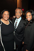 April 17, 2012 Washington, D.C: (L-R) Tanya Lombard, Asst.VP, Public Affairs, AT&T, Rev Al. Sharpton, Founder & President, NAN, and Tamika Mallory, National Executive Director, NAN attend Rev. Al Sharpton's  2012 National Action Network Convention held at the Walter E. Washington Convention Center from April 11-14, 2012 in Washington, D.C ..National Action Network (NAN) is one of the leading civil rights organizations in America and is at the forefront of the social justice movement, confronting issues such as police misconduct and abuse, voter rights, education, workers' right, healthcare awareness, anti-violence and more. Founded in New York City in 1991 by Rev. Al Sharpton and a group of activists, NAN is committed to the principles of nonviolent activism and civil disobedience as a direct outgrowth of the movement that was lead by the Rev. Dr. Martin Luther King, Jr. .(Photo by Terrence Jennings)