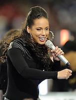Super Bowl XLII, Phoenix, AZ 02/03/08 Alicia Keyes performs at Super Bowl XLII in Phoenix, AZ