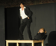 Marty Dunbar (left) and Clara Lee Arnold rehearse the play Clandestine as part of the Ten Minute Plays in Oxford, Miss.  on Tuesday, September 20, 2011.