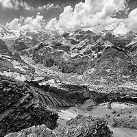 Infrared photo, Switzerland, Alps, Wengen,