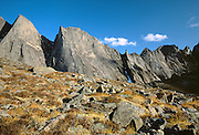 Gates of the Arctic National Park, AK, USA.<br /> Arrigetch Peaks Range.<br /> Granite walls and arctic tundra in the fall.