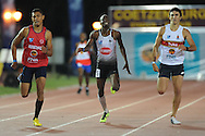 STELLENBOSCH, South Africa - Monday 15 April 2013, Nijel Amos (5) of Botswana and a student at North West University in Potchefstroom runs in the mens 400m during the Varsity Athletics meeting at the University of Stellenbosch's Coetzenburg stadium. Amos is also the holder of the World Junior record, World Junior 800m champion and a silver medal recipient in the London Olympic games in 2012..Photo by Roger Sedres/ ImageSA