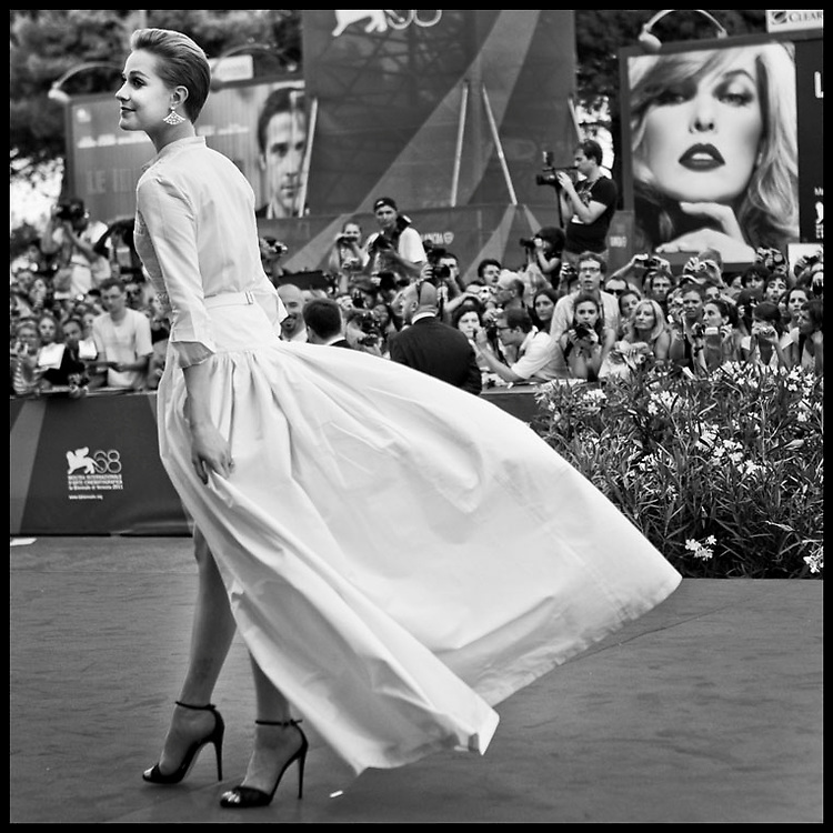 Evan Rachel Wood attends 'The Ides Of March' premiere during the 68th Venice Film Festival.