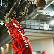Maine Red Claws Forward Chris Wright (33) dunks the ball in the second half of an NBA D-league regular season basketball game between the Delaware 87ers (76ers) and the Maine Red Claws (Boston Celtics) Tuesday, Feb. 4, 2014 at The Bob Carpenter Sports Convocation Center, Newark, DE
