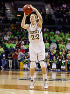 SOUTH BEND, IN - FEBRUARY 11: Madison Cable #22 of the Notre Dame Fighting Irish shoots a jump shot against the Louisville Cardinals at Purcel Pavilion on February 11, 2013 in South Bend, Indiana. Notre Dame defeated Louisville 93-64. (Photo by Michael Hickey/Getty Images) *** Local Caption *** Madison Cable