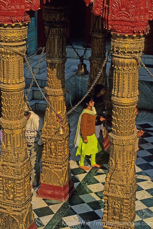 "Asia, India, Varanasi.  The Durga ""monkey"" Temple."