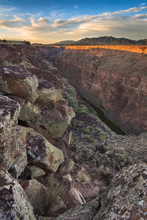 Near Taos, New Mexico highway 64 crosses over the Rio Grande Gorge, and through the Rio Grande del Norte National Monument.