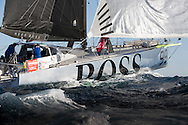 The Barcelona World Race 2014/2015. Pictures from the race start today - Hugo Boss IMOCA Open 60 skippered by Alex Thomson (GBR) with Co skipper Pepe Ribes (ESP)<br />  Credit: Lloyd Images