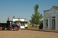 Big Horn County Historical Museum, Hardin, Montana, 1927 International truck, Fly Inn Gas Station, Corinth Store and Post Office