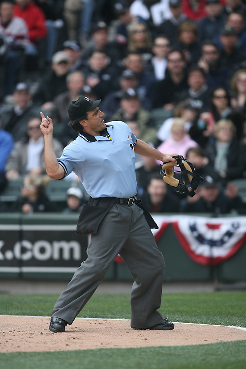 CHICAGO - APRIL 7:  Home plate umpire Phil Cozzi  ejects White Sox manager Ozzie Guillen during the game against the Minnesota Twins Sox at U.S. Cellular Field in Chicago, Illinois on April 7, 2008.  The White Sox defeated the Twins 7-4.  (Photo by Ron Vesely)
