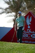 19.01.2013 Abu Dhabi, United Arab Emirates.  Tom Lewis in action during the European Tour HSBC Golf championship  third round from the Abu Dhabi Golf Club.