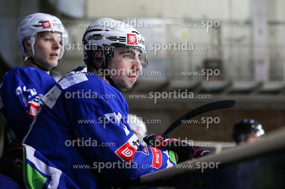 Nik Simsic of Slovenia during friendly ice hockey match between Slovenia and Croatia, on April 12, 2016 in Ledena dvorana, Bled, Slovenia. Photo By Matic Klansek Velej / Sportida
