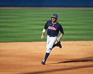 Ole Miss' Andrew Mistone runs to third base vs. Vanderbilt at Oxford-University Stadium Stadium in Oxford, Miss. on Saturday, April 6, 2013. Vanderbilt won 2-1.
